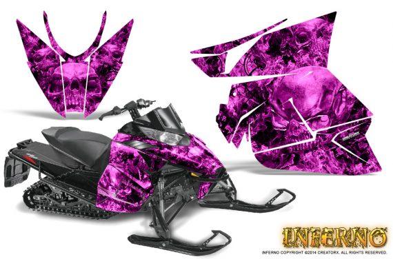 Arctic Cat Pro Climb Cross 2012 Graphics Kit Inferno Pink 570x376 - Arctic Cat ProClimb ProCross SnoPro ZR-XF-M 2012-2016 Graphics