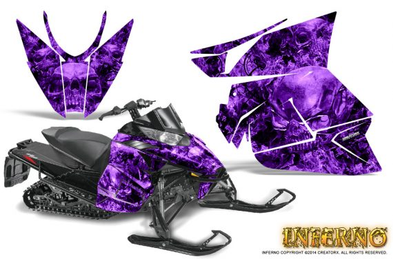 Arctic Cat Pro Climb Cross 2012 Graphics Kit Inferno Purple 570x376 - Arctic Cat ProClimb ProCross SnoPro ZR-XF-M 2012-2016 Graphics
