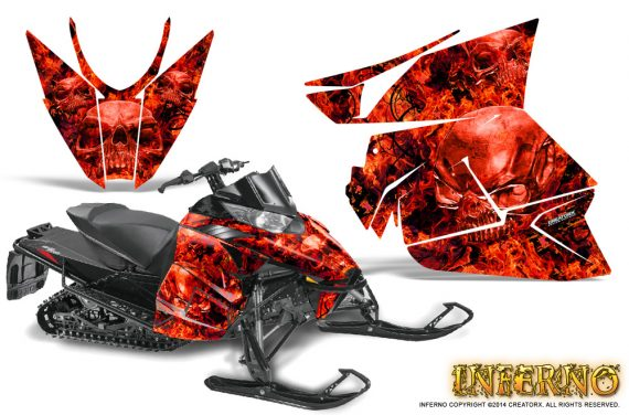 Arctic Cat Pro Climb Cross 2012 Graphics Kit Inferno Red 570x376 - Arctic Cat ProClimb ProCross SnoPro ZR-XF-M 2012-2016 Graphics