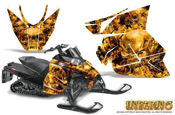 Arctic Cat Pro Climb Cross 2012 Graphics Kit Inferno Yellow 570x376 - Arctic Cat ProClimb ProCross SnoPro ZR-XF-M 2012-2016 Graphics