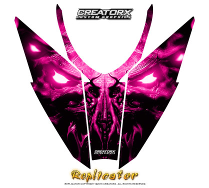 Arctic_Cat_Pro_Climb_Cross_Hood_Graphics_Kit_Replicator_Pink