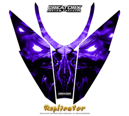 Arctic_Cat_Pro_Climb_Cross_Hood_Graphics_Kit_Replicator_Purple