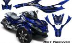 CAN AM SPYDER CreatorX Graphics Kit Bolt Thrower Blue 150x90 - Can-Am Spyder RS GS Graphics