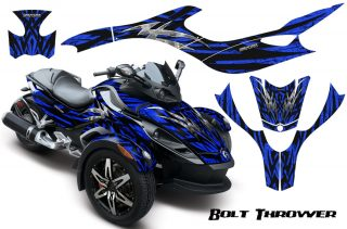 CAN AM SPYDER CreatorX Graphics Kit Bolt Thrower Blue 320x211 - Can-Am Spyder RS GS Graphics