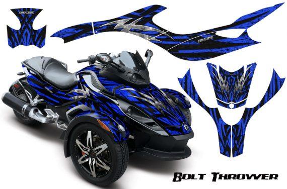 CAN AM SPYDER CreatorX Graphics Kit Bolt Thrower Blue 570x376 - Can-Am Spyder RS GS Graphics