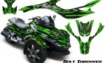 CAN AM SPYDER CreatorX Graphics Kit Bolt Thrower Green 150x90 - Can-Am Spyder RS GS Graphics