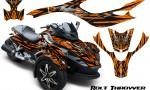 CAN AM SPYDER CreatorX Graphics Kit Bolt Thrower Orange 150x90 - Can-Am Spyder RS GS Graphics