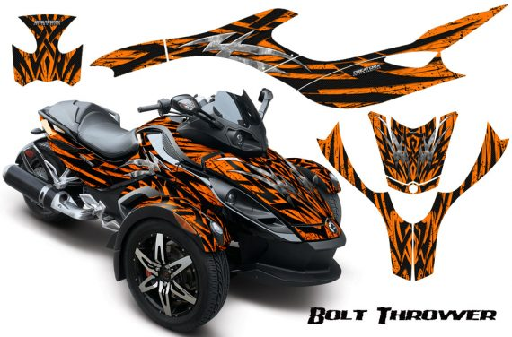 CAN AM SPYDER CreatorX Graphics Kit Bolt Thrower Orange 570x376 - Can-Am Spyder RS GS Graphics