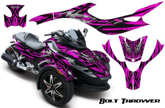 CAN AM SPYDER CreatorX Graphics Kit Bolt Thrower Pink 570x376 - Can-Am Spyder RS GS Graphics