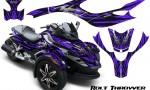 CAN AM SPYDER CreatorX Graphics Kit Bolt Thrower Purple 150x90 - Can-Am Spyder RS GS Graphics