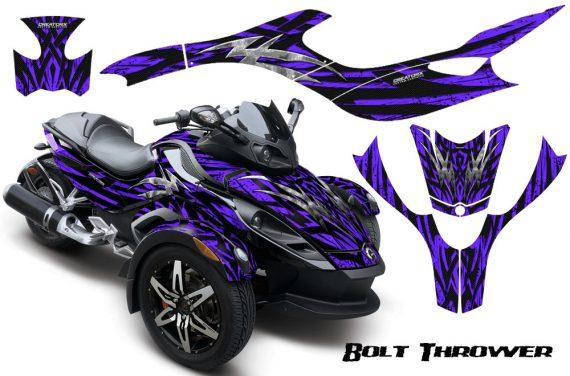 CAN AM SPYDER CreatorX Graphics Kit Bolt Thrower Purple 570x376 - Can-Am Spyder RS GS Graphics