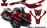 CAN AM SPYDER CreatorX Graphics Kit Bolt Thrower Red RB 150x90 - Can-Am Spyder RS GS Graphics