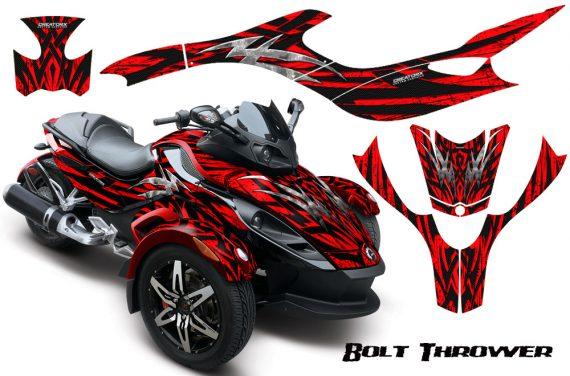 CAN AM SPYDER CreatorX Graphics Kit Bolt Thrower Red RB 570x376 - Can-Am Spyder RS GS Graphics