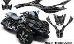 CAN AM SPYDER CreatorX Graphics Kit Bolt Thrower Silver 150x90 - Can-Am Spyder RS GS Graphics