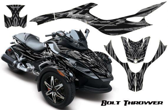 CAN AM SPYDER CreatorX Graphics Kit Bolt Thrower Silver 570x376 - Can-Am Spyder RS GS Graphics