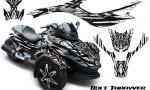 CAN AM SPYDER CreatorX Graphics Kit Bolt Thrower White 150x90 - Can-Am Spyder RS GS Graphics