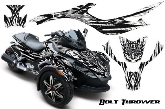 CAN AM SPYDER CreatorX Graphics Kit Bolt Thrower White 570x376 - Can-Am Spyder RS GS Graphics