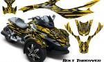 CAN AM SPYDER CreatorX Graphics Kit Bolt Thrower Yellow 150x90 - Can-Am Spyder RS GS Graphics