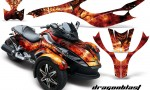 CAN AM SPYDER CreatorX Graphics Kit Dragonblast BB 150x90 - Can-Am Spyder RS GS Graphics