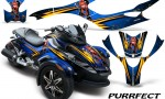 CAN AM SPYDER CreatorX Graphics Kit Purrfect Blue 150x90 - Can-Am Spyder RS GS Graphics