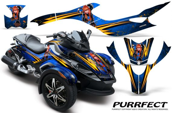 CAN AM SPYDER CreatorX Graphics Kit Purrfect Blue 570x376 - Can-Am Spyder RS GS Graphics