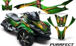 CAN AM SPYDER CreatorX Graphics Kit Purrfect Green 150x90 - Can-Am Spyder RS GS Graphics