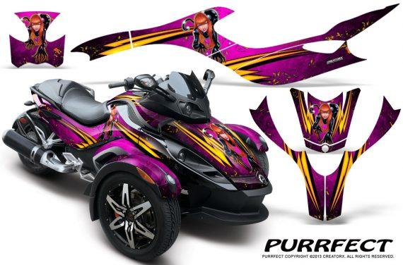 CAN AM SPYDER CreatorX Graphics Kit Purrfect Pink 570x376 - Can-Am Spyder RS GS Graphics
