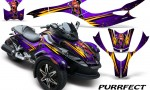 CAN AM SPYDER CreatorX Graphics Kit Purrfect Purple 150x90 - Can-Am Spyder RS GS Graphics
