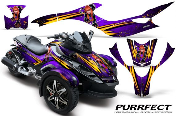 CAN AM SPYDER CreatorX Graphics Kit Purrfect Purple 570x376 - Can-Am Spyder RS GS Graphics