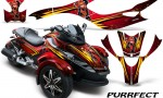 CAN AM SPYDER CreatorX Graphics Kit Purrfect Red 150x90 - Can-Am Spyder RS GS Graphics