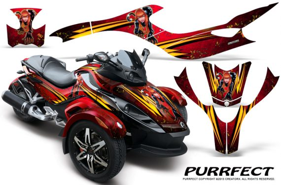 CAN AM SPYDER CreatorX Graphics Kit Purrfect Red 570x376 - Can-Am Spyder RS GS Graphics