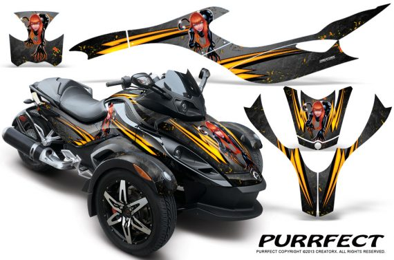 CAN AM SPYDER CreatorX Graphics Kit Purrfect Silver 570x376 - Can-Am Spyder RS GS Graphics