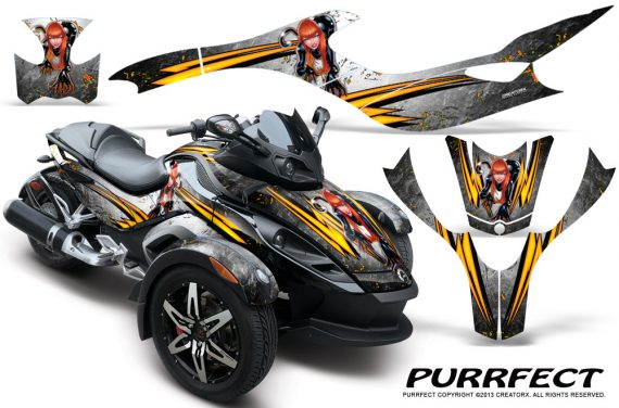 CAN AM SPYDER CreatorX Graphics Kit Purrfect White 570x376 - Can-Am Spyder RS GS Graphics