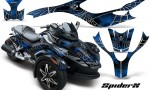 CAN AM SPYDER CreatorX Graphics Kit SpiderX Blue 150x90 - Can-Am Spyder RS GS Graphics