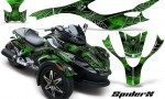 CAN AM SPYDER CreatorX Graphics Kit SpiderX Green 150x90 - Can-Am Spyder RS GS Graphics