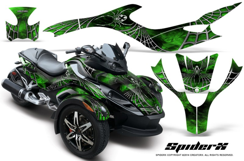 CAN-AM-SPYDER-CreatorX-Graphics-Kit-SpiderX-Green