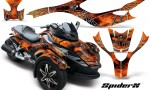 CAN AM SPYDER CreatorX Graphics Kit SpiderX Orange 150x90 - Can-Am Spyder RS GS Graphics
