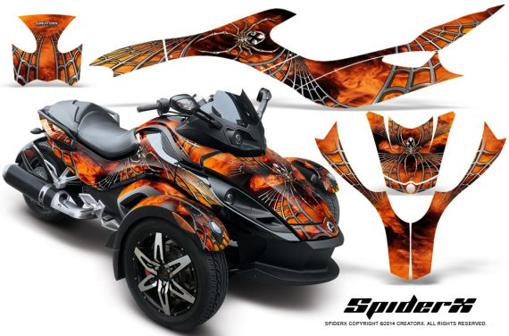 CAN AM SPYDER CreatorX Graphics Kit SpiderX Orange 570x376 - Can-Am Spyder RS GS Graphics