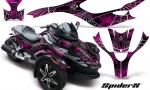 CAN AM SPYDER CreatorX Graphics Kit SpiderX Pink 150x90 - Can-Am Spyder RS GS Graphics