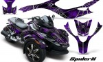 CAN AM SPYDER CreatorX Graphics Kit SpiderX Purple 150x90 - Can-Am Spyder RS GS Graphics