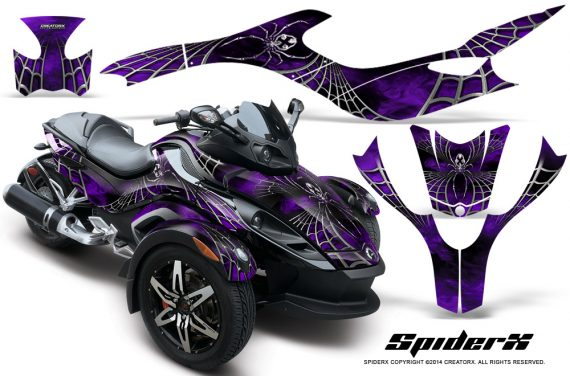 CAN AM SPYDER CreatorX Graphics Kit SpiderX Purple 570x376 - Can-Am Spyder RS GS Graphics