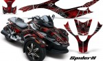 CAN AM SPYDER CreatorX Graphics Kit SpiderX Red BB 150x90 - Can-Am Spyder RS GS Graphics