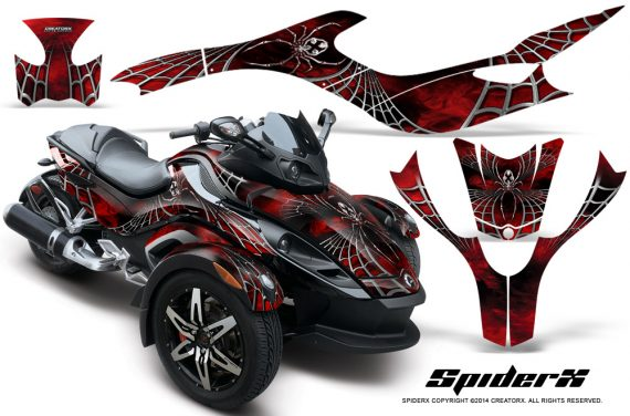 CAN AM SPYDER CreatorX Graphics Kit SpiderX Red BB 570x376 - Can-Am Spyder RS GS Graphics