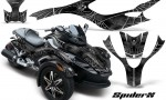 CAN AM SPYDER CreatorX Graphics Kit SpiderX Silver 150x90 - Can-Am Spyder RS GS Graphics