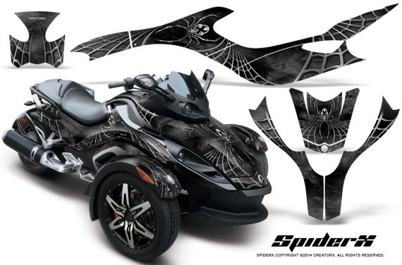 CAN AM SPYDER CreatorX Graphics Kit SpiderX Silver 570x376 - Can-Am Spyder RS GS Graphics