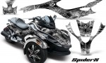 CAN AM SPYDER CreatorX Graphics Kit SpiderX White 150x90 - Can-Am Spyder RS GS Graphics