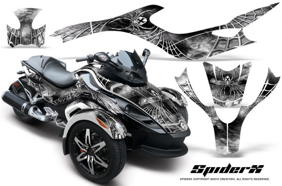CAN AM SPYDER CreatorX Graphics Kit SpiderX White 570x376 - Can-Am Spyder RS GS Graphics