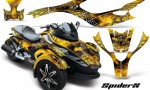 CAN AM SPYDER CreatorX Graphics Kit SpiderX Yellow YB 150x90 - Can-Am Spyder RS GS Graphics