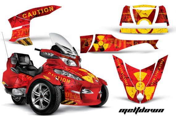 CAN AM SPYDER RT S AMR Graphic Kit MELTDOWN Y R CK 570x376 - Can-Am Spyder RTS 2010-2013 Graphics