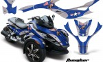 CAN AM SPYDER TBOMBER BLUE 150x90 - Can-Am Spyder RS GS Graphics
